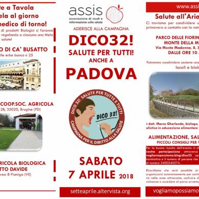 Manifesto DICO32 @Padova